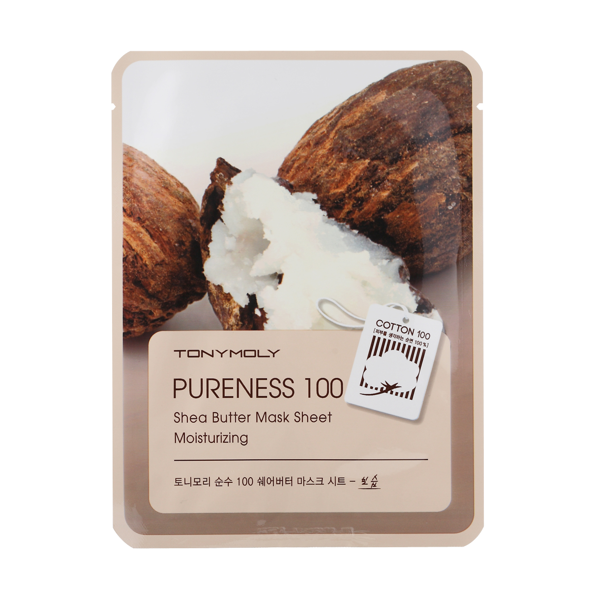 TonyMoly Тканевая маска с экстрактом масла ши Pureness 100 Shea Butter Mask Sheet, 21 мл тканевая маска для лица с экстрактом масла ши nature source cell mask shea butter 25 гр