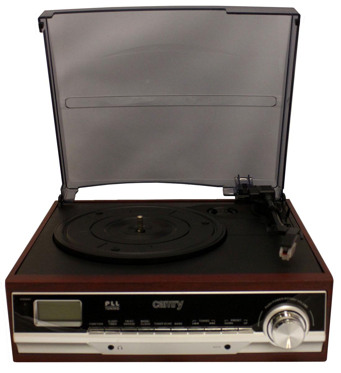 лучшая цена Проигрыватель виниловых дисков Camry 1113, Black