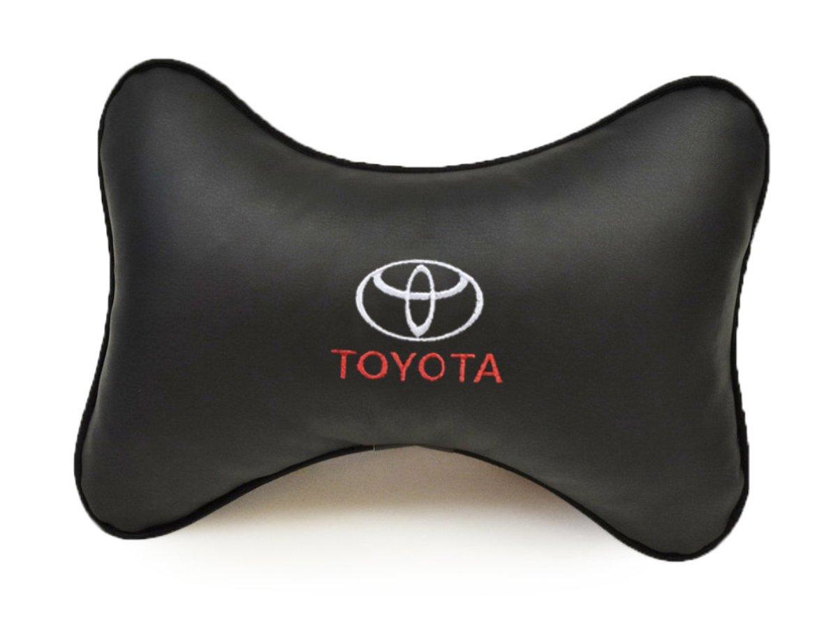 Фото - Подушка на подголовник Auto premium Toyota, цвет: черный. 37013 авто