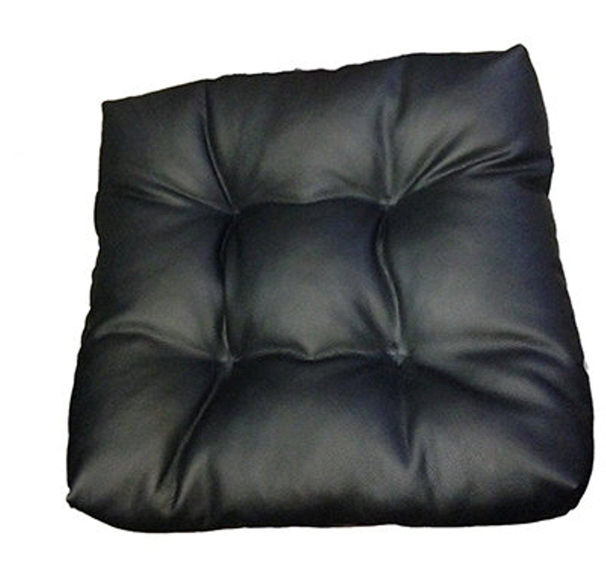 Подушка на сиденье Auto premium, с фиксирующим ремнем, цвет: черный. 77011/М081