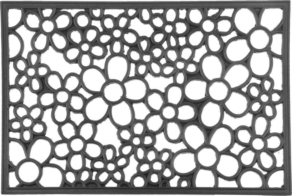 Коврик придверный SunStep Цветы, 60 х 40 см коврик придверный sunstep ампир 60 х 40 см