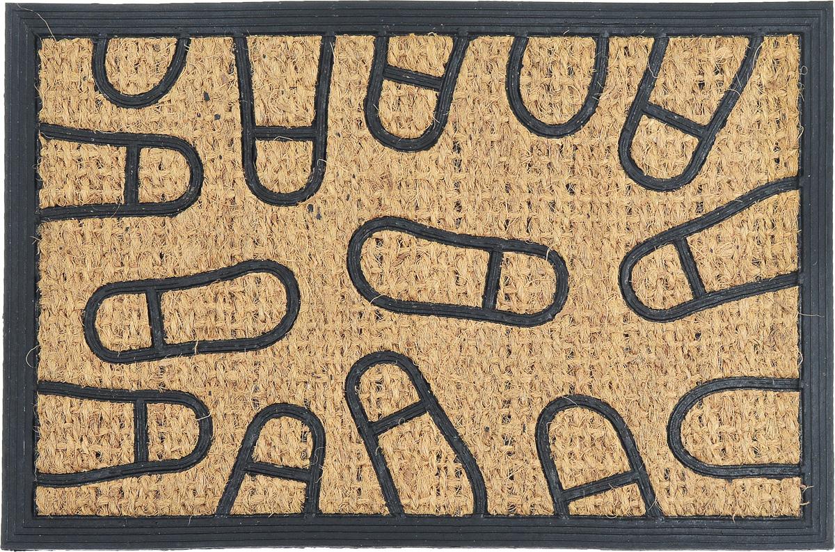 Коврик придверный SunStep Следы, 60 х 40 см коврик придверный sunstep spongy welcome цвет серый 90 х 60 см
