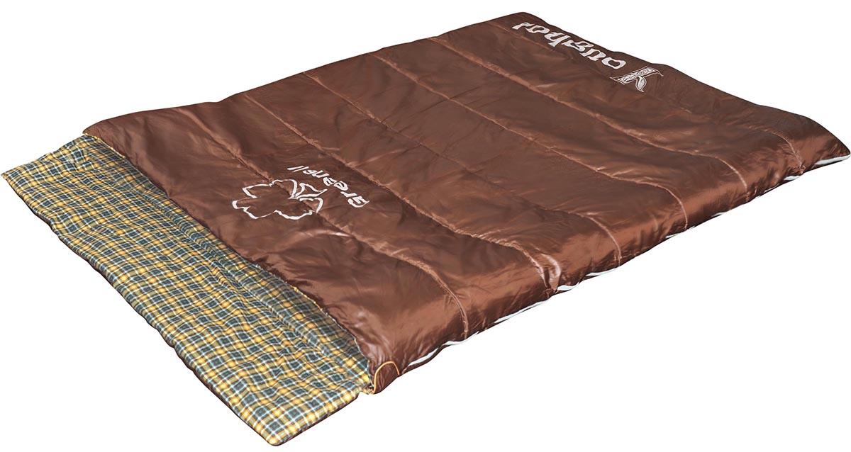 Мешок спальный Greenell Йол V2, цвет: коричневый, левосторонняя молния