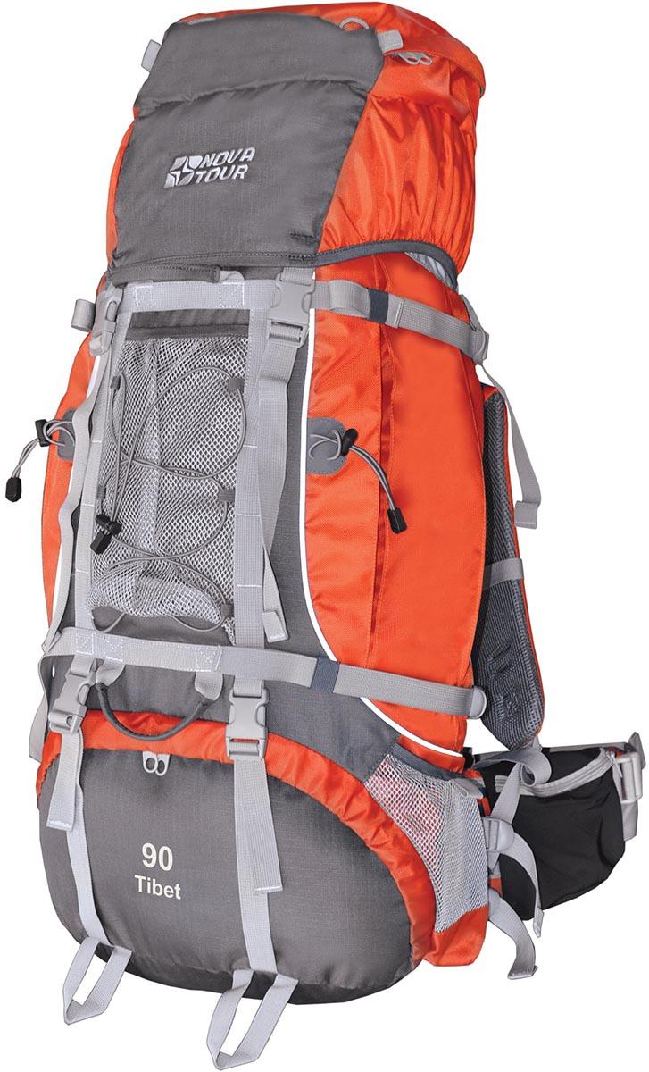 Рюкзак экспедиционный Nova Tour Тибет 90, цвет: серый, терракотовый, 90 л рюкзак экспедиционный nova tour абакан 130