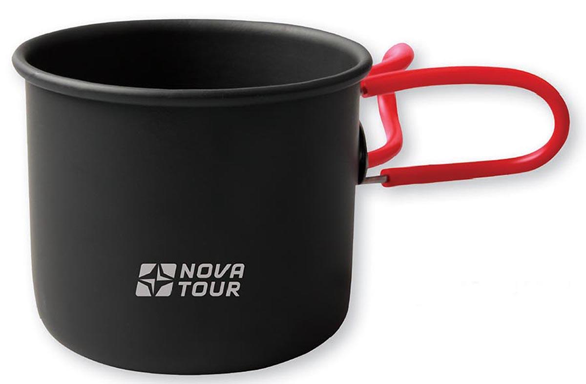 Кружка NOVA TOUR со складными ручками, цвет: черный, красный, 400 мл