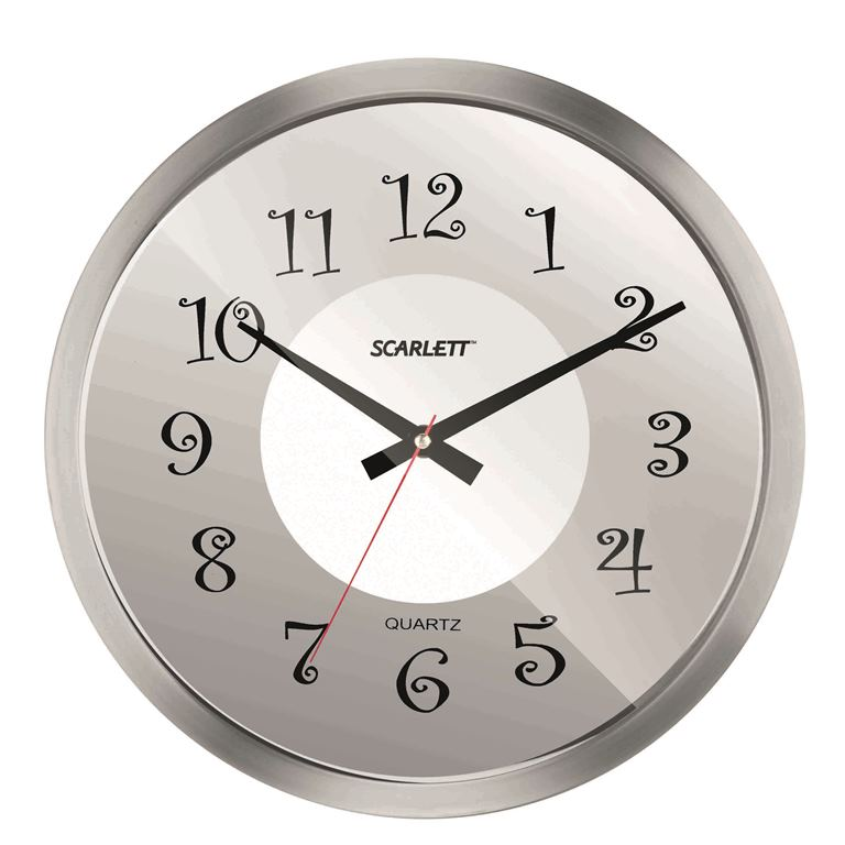 Часы настенные Scarlett, диаметр 30,5 см. SC - WC1004I цена