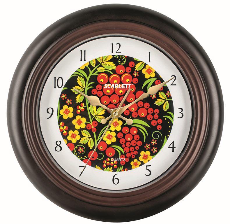 Часы настенные Scarlett, диаметр 30,5 см. SC - 25M цена