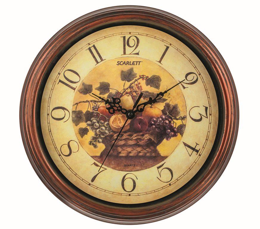Часы настенные Scarlett, диаметр 30,5 см. SC - 25L цена
