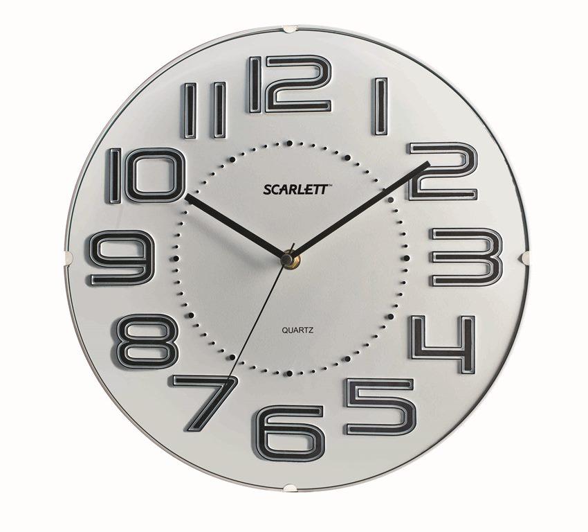 Часы настенные Scarlett, диаметр 32 см. SC - 55O цена