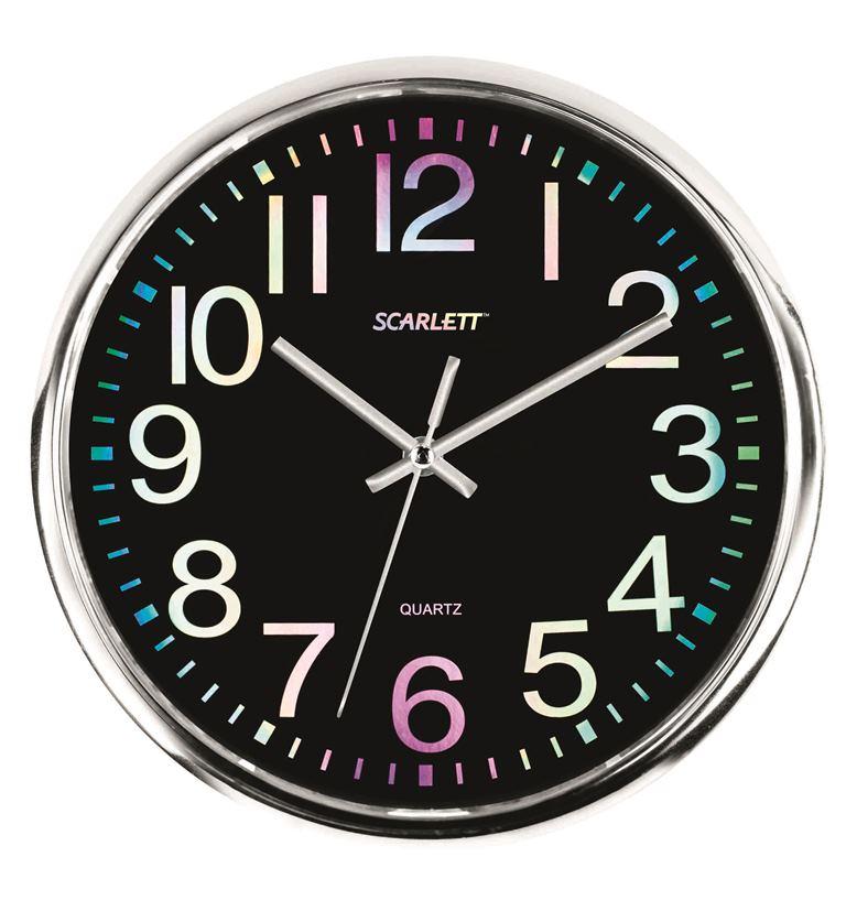 Часы настенные Scarlett, диаметр 30 см. SC - WC1010O цена