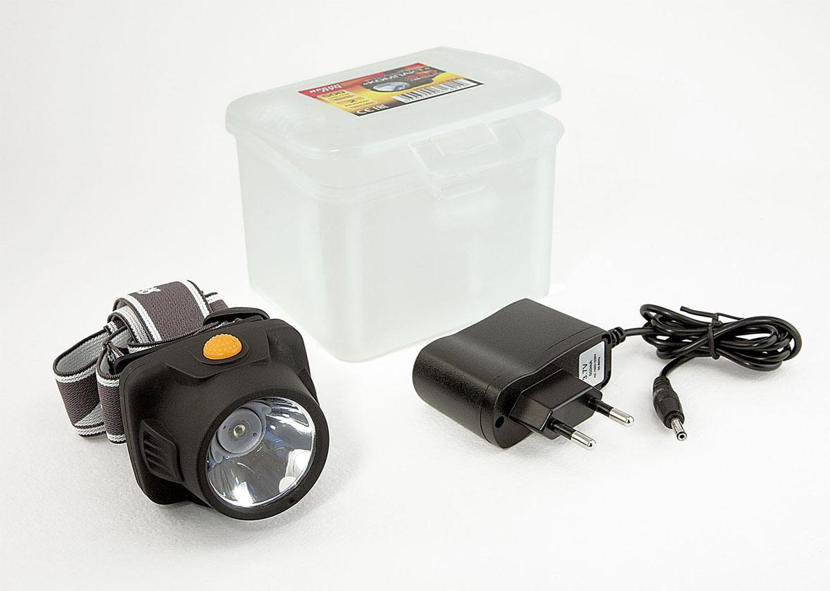 Фонарь налобный Яркий луч Компакт, аккумуляторный. LH-100A