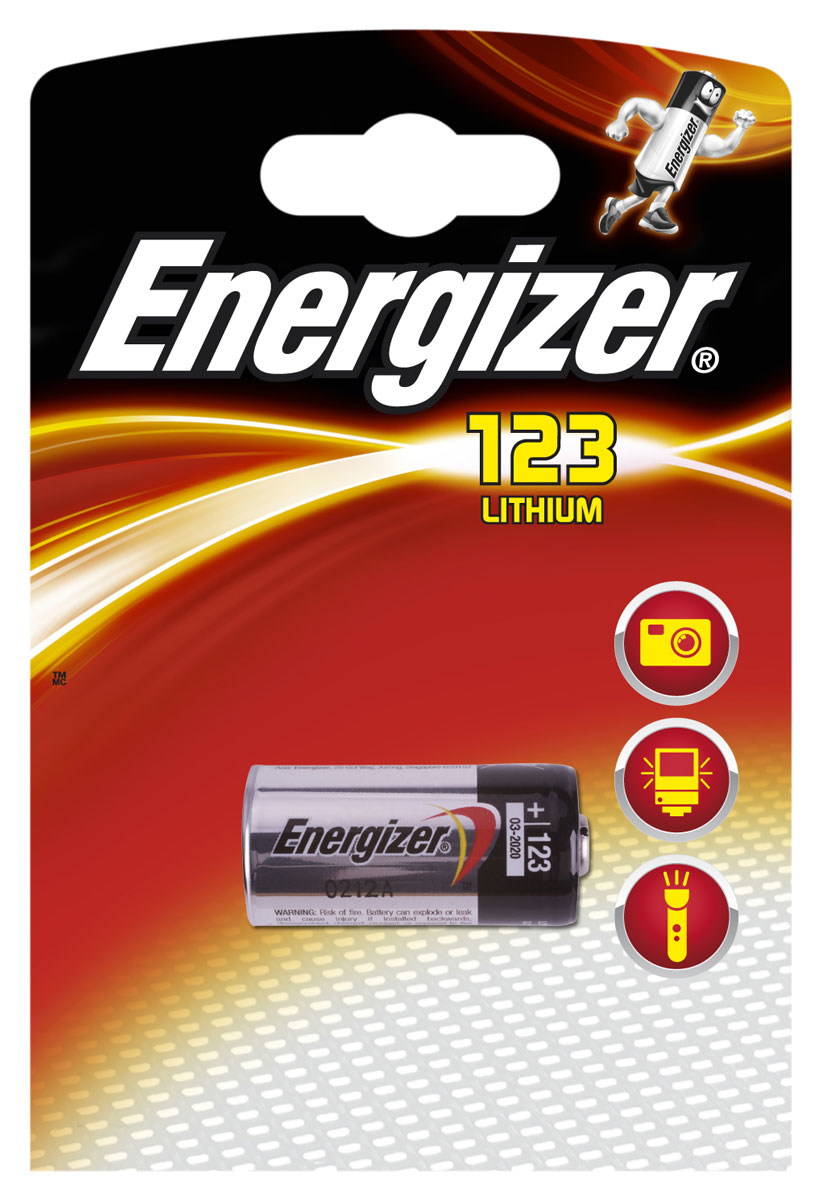 Батарейка Energizer Lithium Speciality Photo, тип 123, 3V energizer батарейка lithium cr1616 pip 1шт