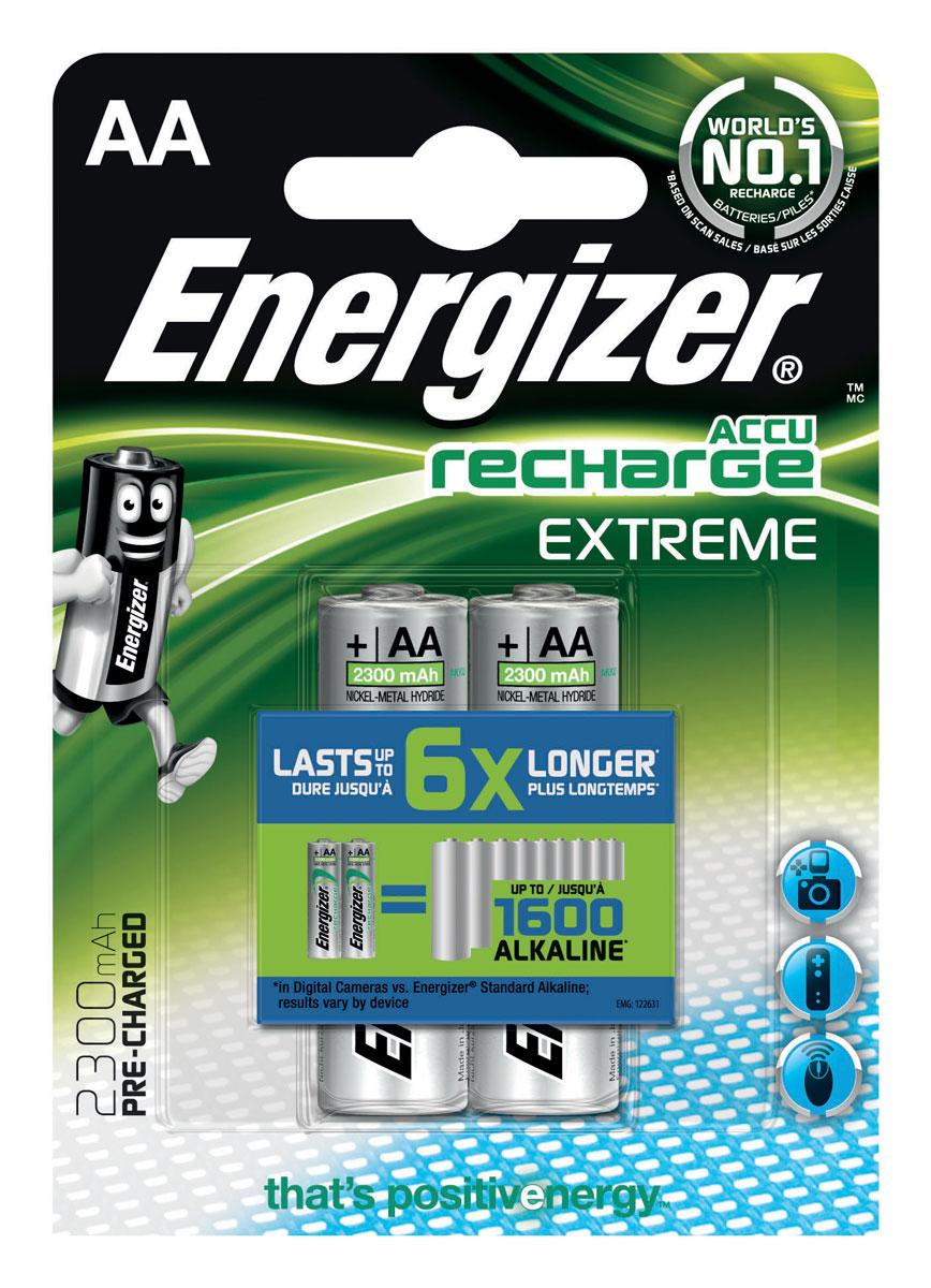 Батарейка Energizer Extreme, тип AA, 1,2 V, 2 шт батарейка aa energizer ultimate lithium l91 fr6 2 штуки