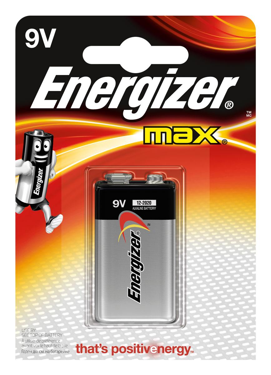 Батарейка Energizer Max, тип 9V/6LR61 батарейка energizer e 23a bl1