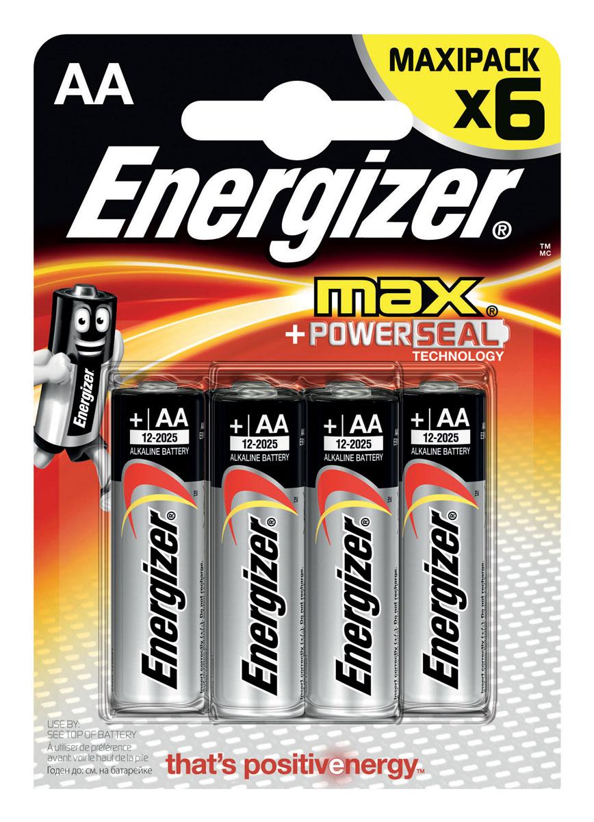 цена на Батарейка Energizer Max, тип АА/LR6, 1,5 V, 6 шт