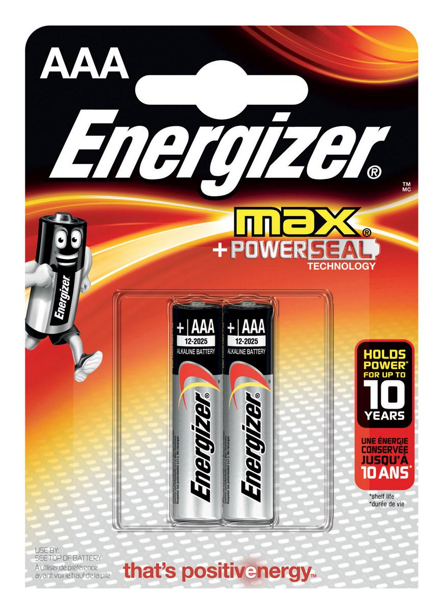 Батарейка Energizer Max, тип ААA/LR03, 1,5 V, 2 шт батарейка energizer e 23a bl1