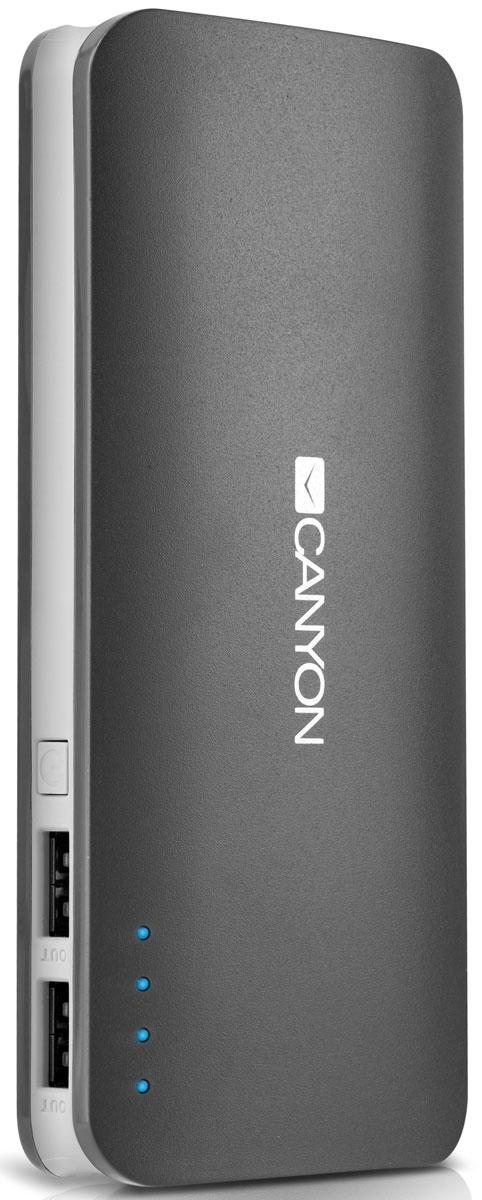 Canyon CNE-CPB130DG, Dark Grey внешний аккумулятор canyon cne cpb130 white