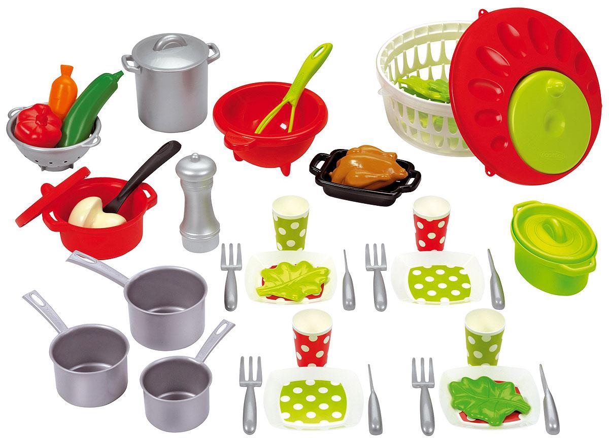 Ecoiffier Набор посуды 100% Chef ecoiffier игрушечный набор сушилка для посуды