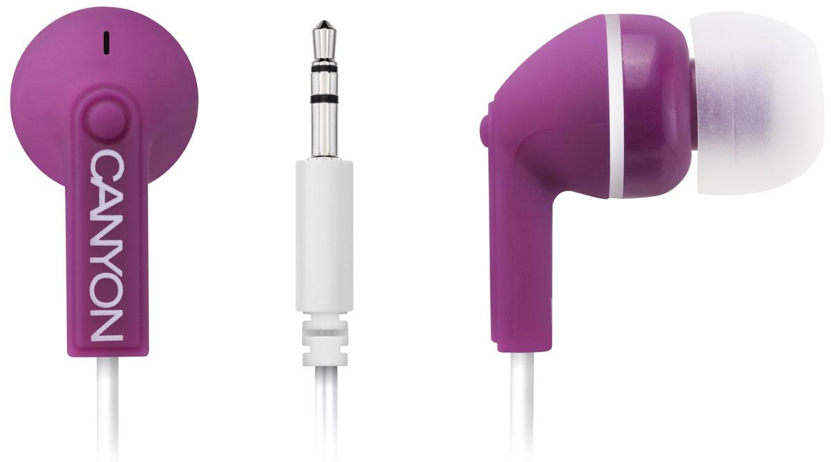 Canyon CNS-CEP01P, Purple наушники наушники canyon cns sbths1 sport earphones лайм