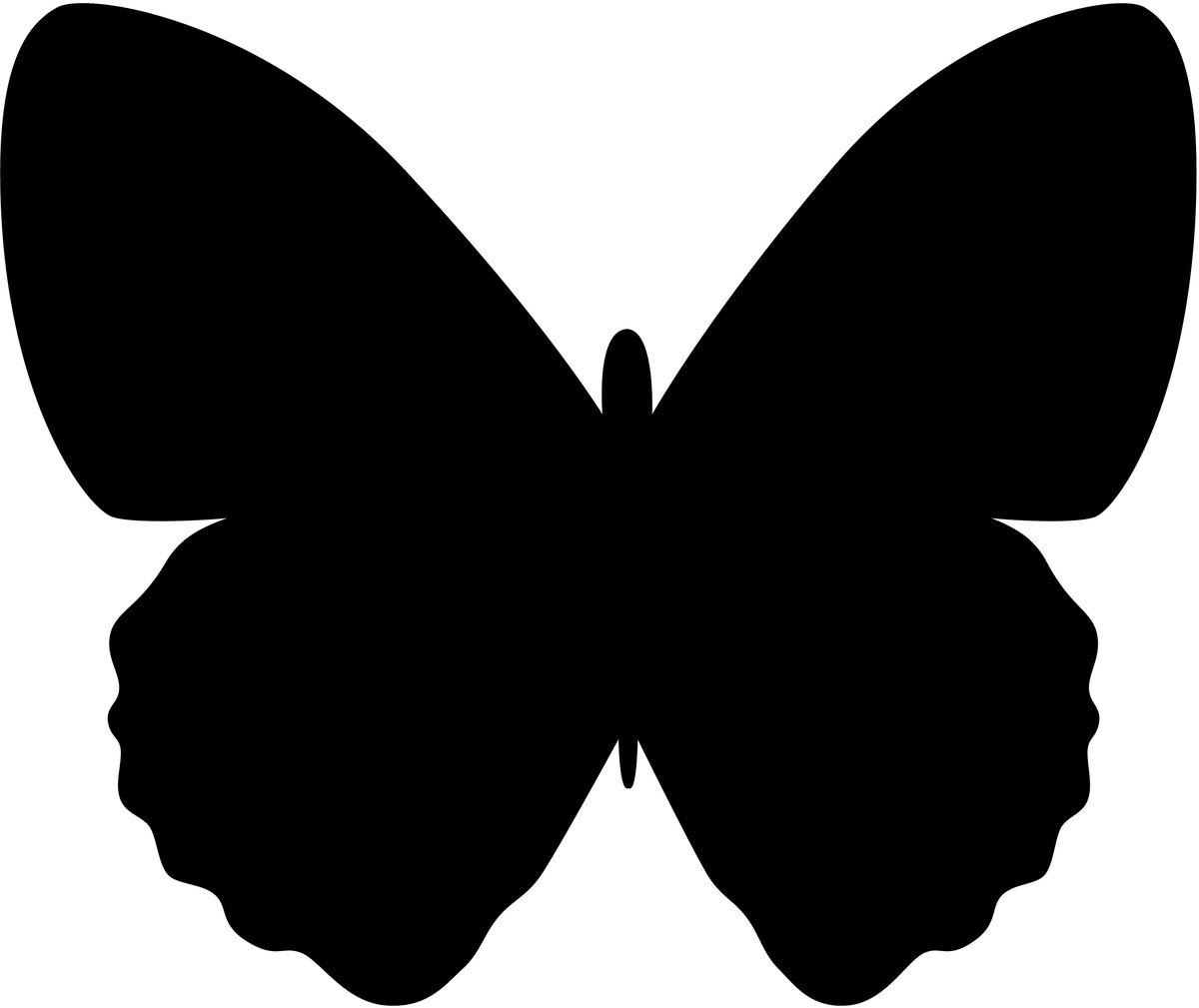 Доска меловая Securit  Бабочка , с маркером