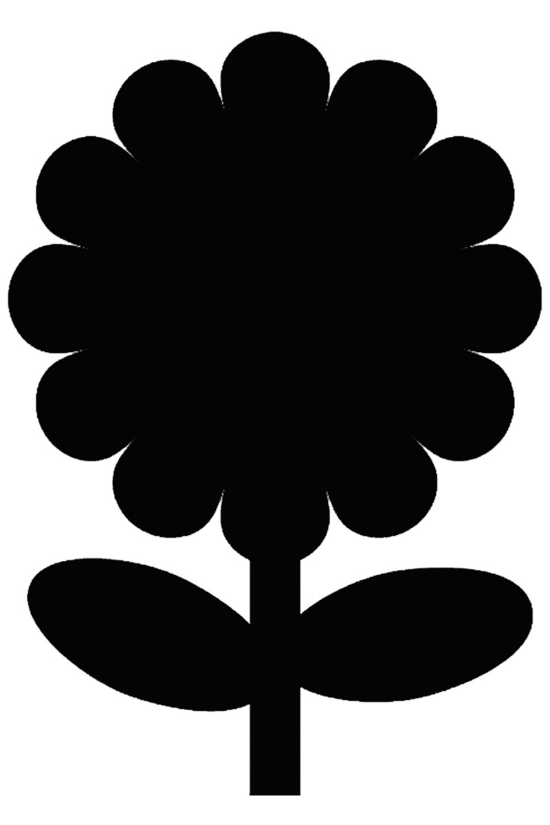Меловая доска для сообщений Securit  Цветок
