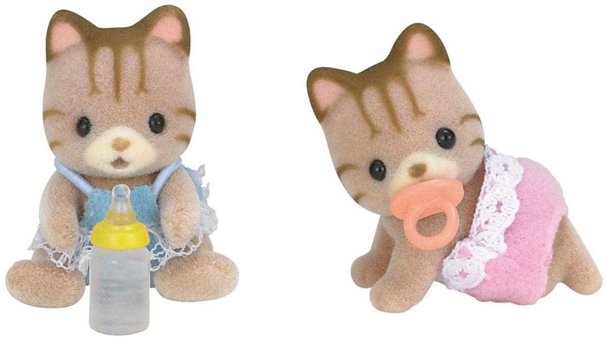 Sylvanian Families Набор фигурок Полосатые котята-двойняшки sylvanian families набор фигурок лабрадоры двойняшки