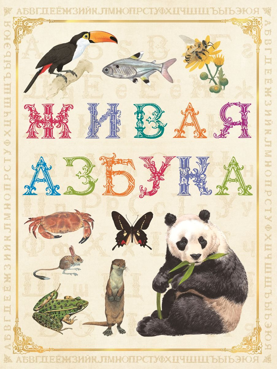 Живая азбука обучающая книга мозаика синтез чудесные наклейки живая азбука мс10222
