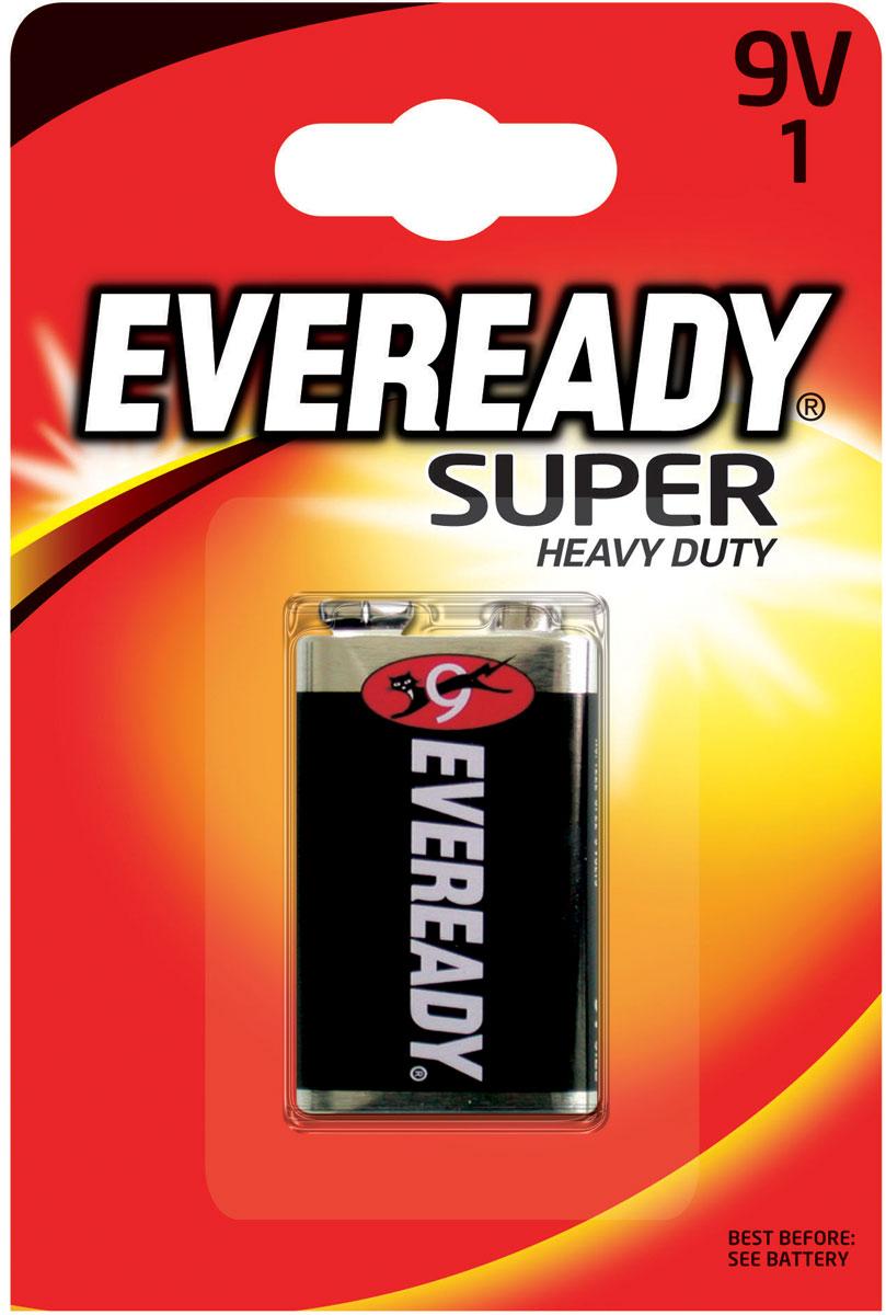Батарейка Eveready Super, 9V energizer батарейка солевая eveready r14 тип c 2шт