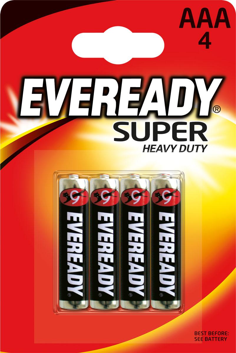 Батарейка Eveready Super, тип AAA, 1,5V, 4 шт energizer батарейка солевая eveready r14 тип c 2шт