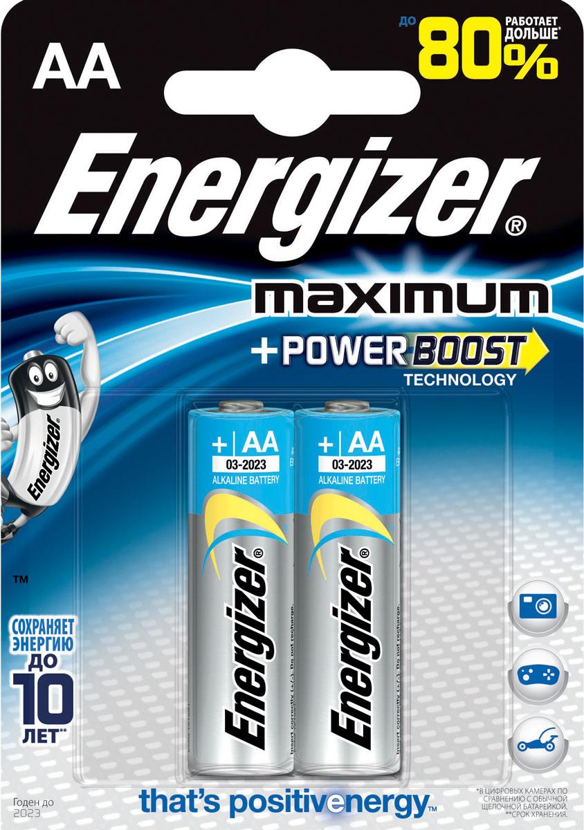 Батарейка Energizer Maximum, тип AA, 1,5V, 2 шт