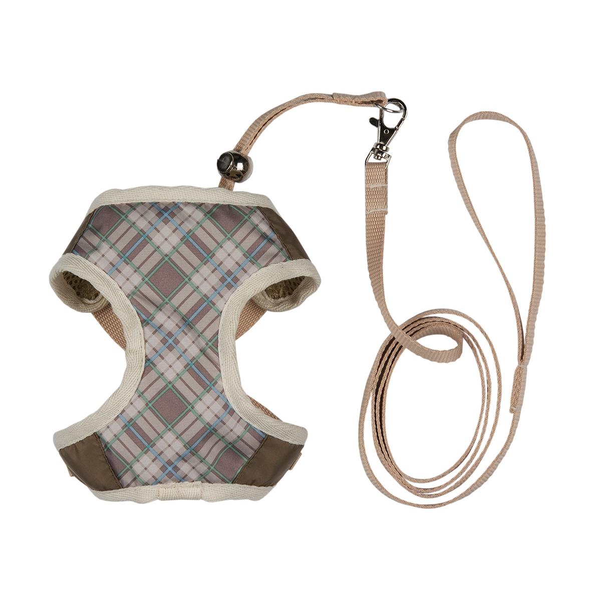 """Шлейка для собак Dogmoda """"Ватсон"""", с поводком, цвет: бежевый, светло-коричневый. Размер 1 (S)"""
