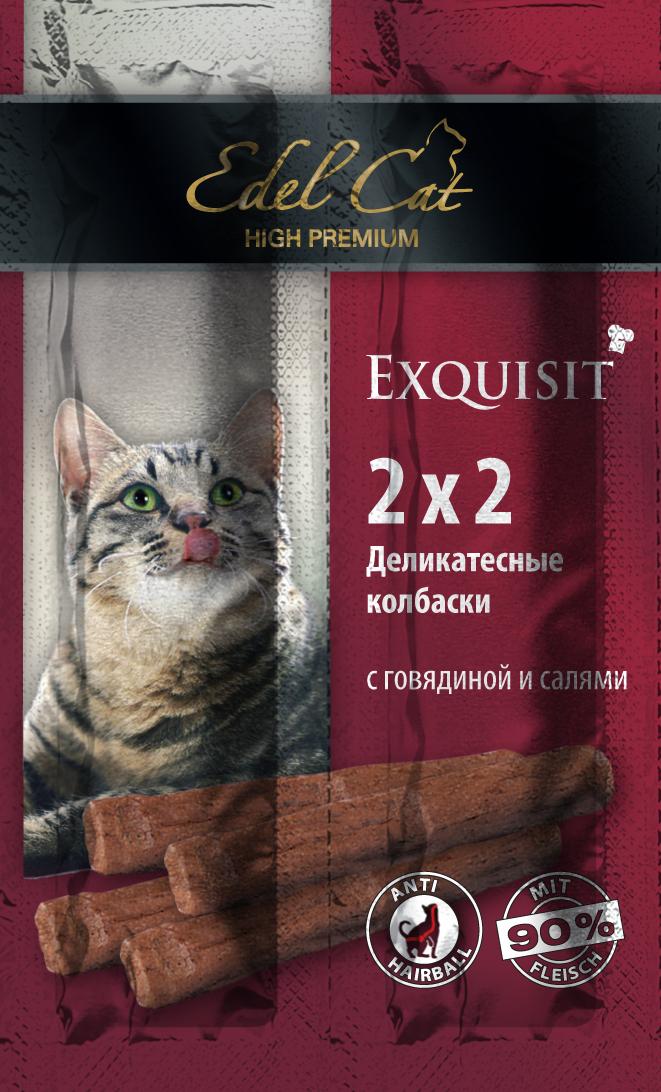 Жевательные мини-колбаски Edel Cat, с говядиной и салями, 4 шт 11th cat volume 4