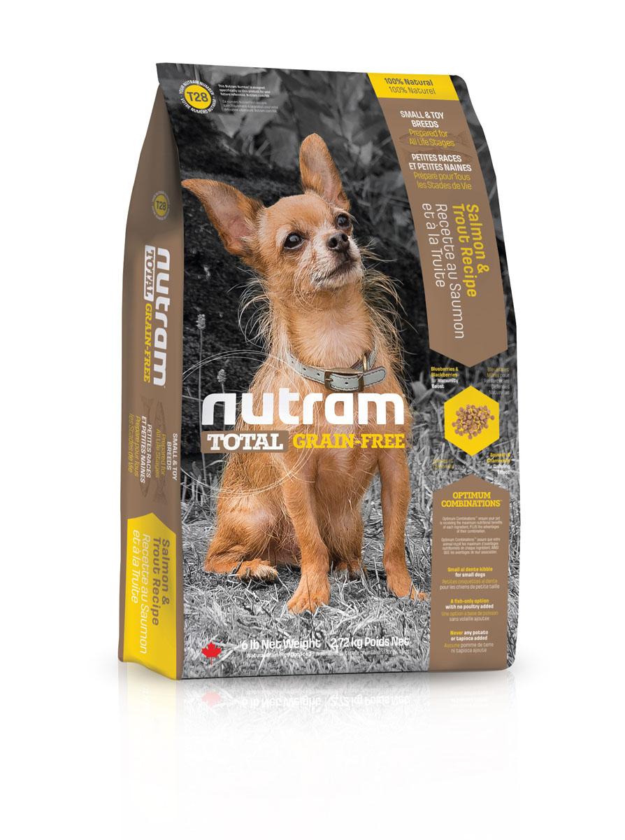 """Сухой корм Nutram """"GF SB Salmon & Trout Dog Food"""", для собак мелких пород, без зерновой, со вкусом мяса лосося и форели, 2,72 кг"""