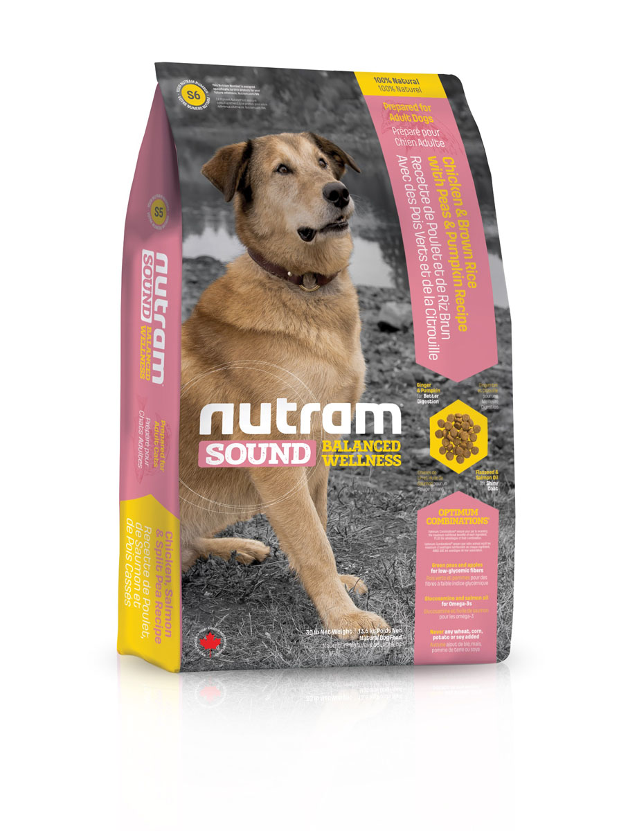 """Корм сухой Nutram """"S6 Sound Adult Dog"""" для взрослых собак, 13,6 кг"""