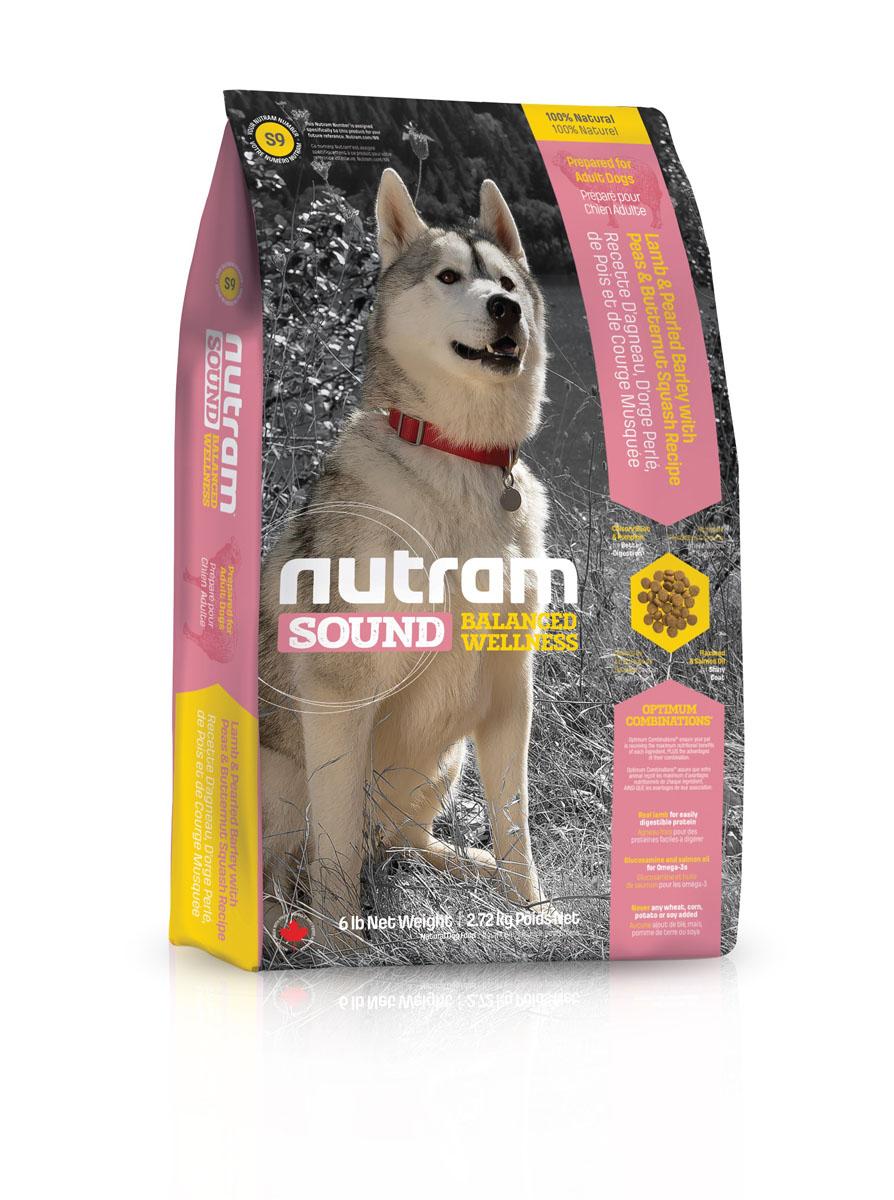 """Сухой корм для взрослых собак из мяса ягненка S9 Nutram """"Sound Adult Dog - Lamb Recipe"""" - 13.6 КГ"""