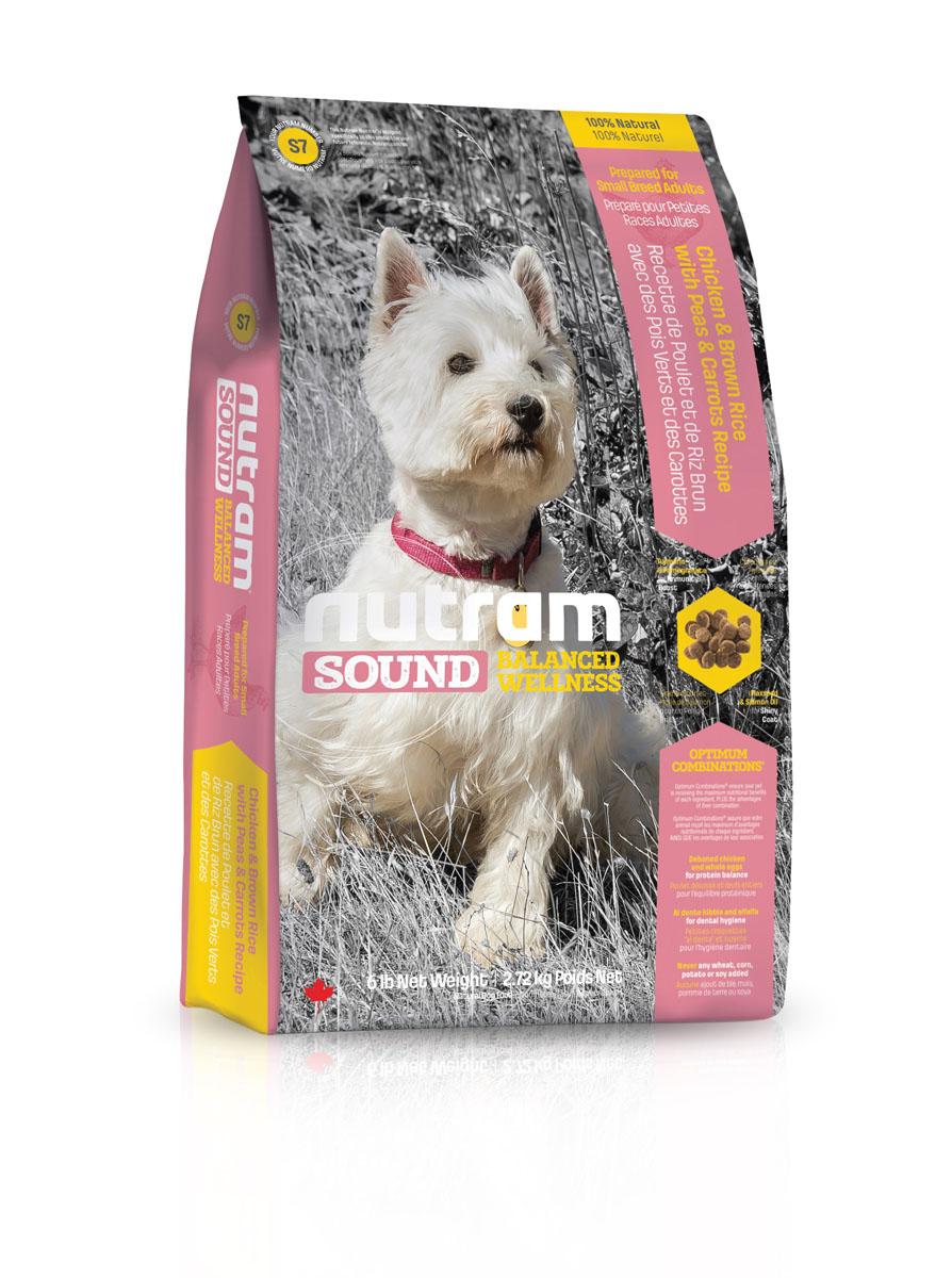 """Корм сухой Nutram """"Sound Balanced Wellness S7"""", для взрослых собак мелких пород, с перловкой, горохом и тыквой, 2,72 кг"""