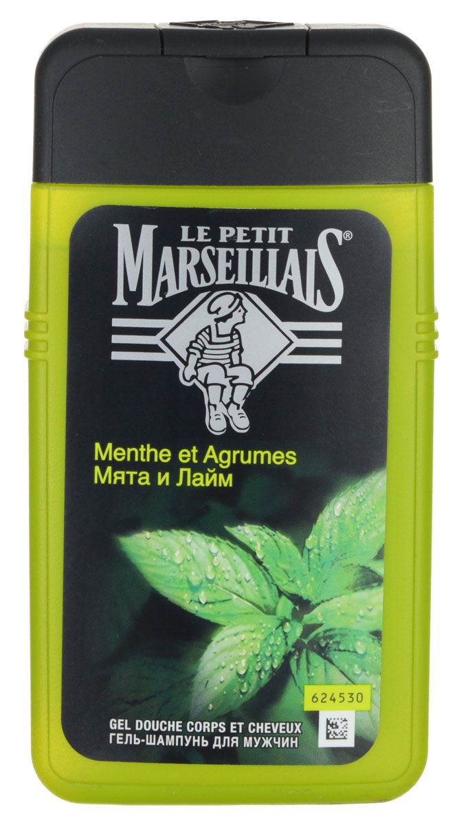Le Petit Marseillais Гель-шампунь для мужчин Мята и лайм 250мл lpm гель шампунь для мужчин шафран и красный апельсин 250мл