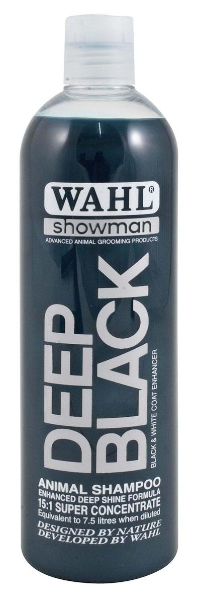 Концентрированный шампунь Moser Wahl Deep Black для животных темных окрасов 500 мл шампунь moser wahl dirty beastie концентрированный суперочищающий для мелких животных 5л