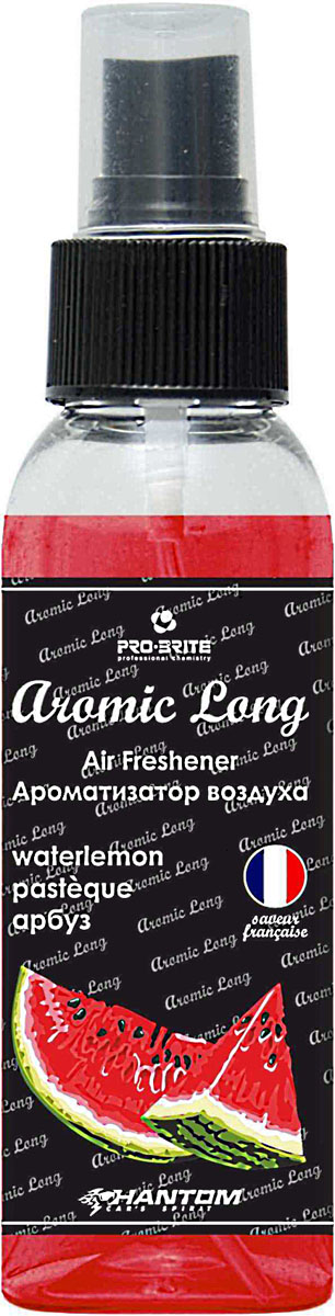 Ароматизатор воздуха автомобильный Phantom Aromic Long, арбуз, спрей 100 мл ароматизатор phantom voyage цветочно океанический