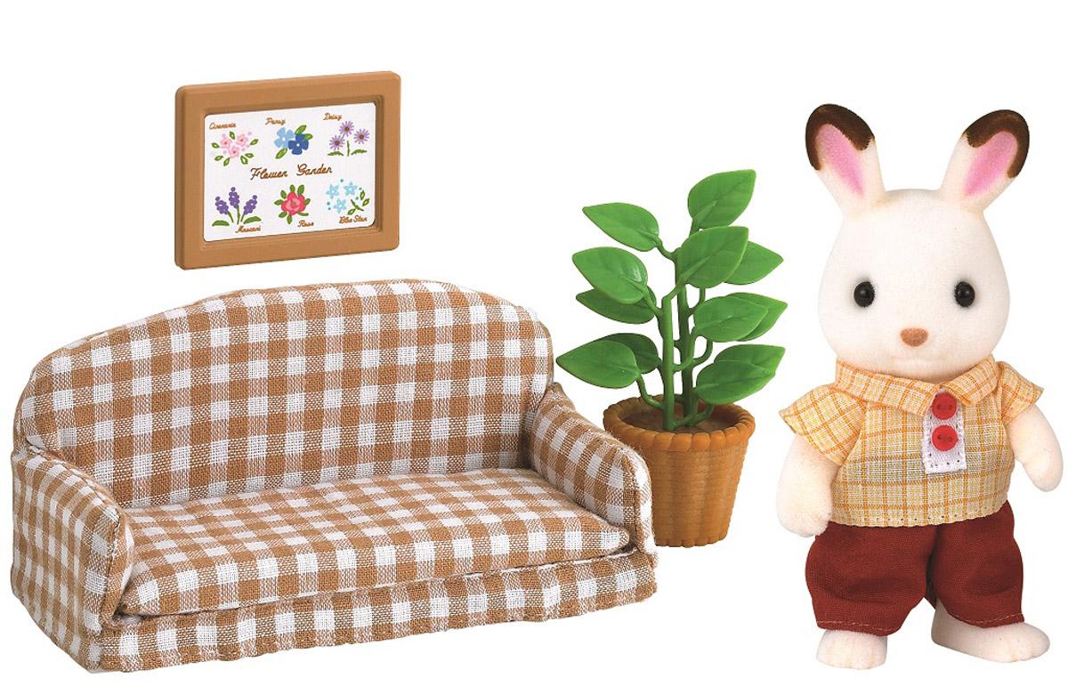 есть картинка зайцы на диване елку-магнит елку конусе