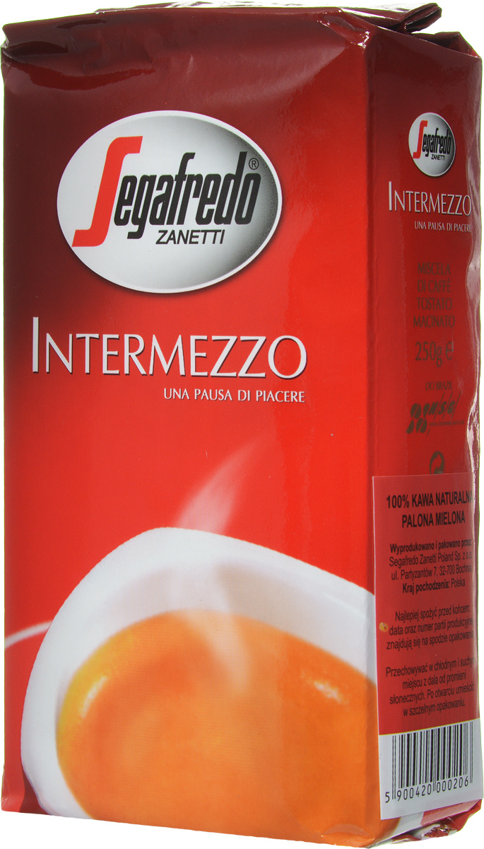 Кофе молотый Segafredo INTERMEZZO 250 гр segafredo кофе молотый фляжка кофейный набор 250 г