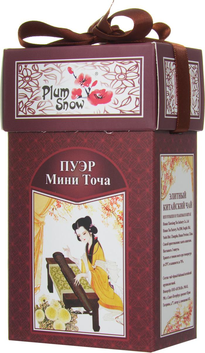 Plum Snow Пуэр мини точа черный листовой чай, 100 г цена