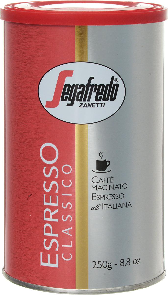 Segafredo Espresso Classico кофе молотый, 250 г segafredo кофе молотый фляжка кофейный набор 250 г