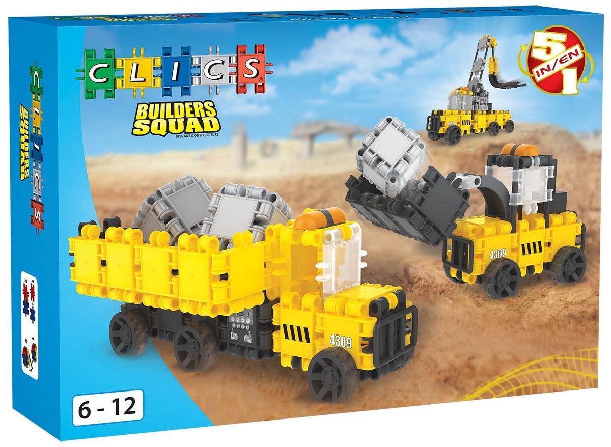 Фото - Clics Конструктор Строительные машины 5 в 1 конструктор joy toy строительные машины 1234