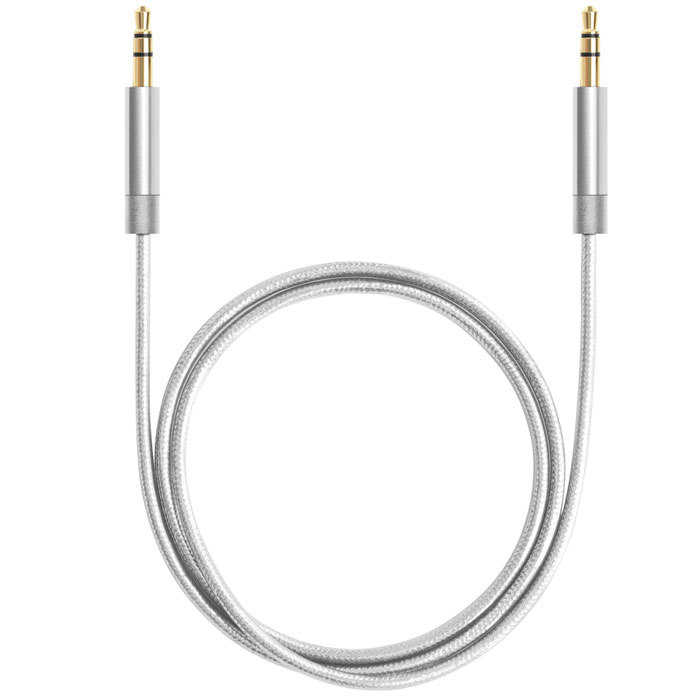 Deppa AUX Pro, Silver аудиокабель (1,2 м) цена