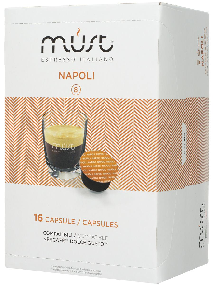 MUST DG Napoli кофе капсульный, 16 шт кофе капсульный pellini nespresso magnifico 10 шт