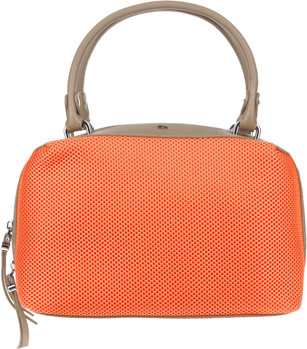 купить Сумка женская Pimo Betti, цвет: оранжевый, темно-бежевый. 14674B1-W1 по цене 9650 рублей