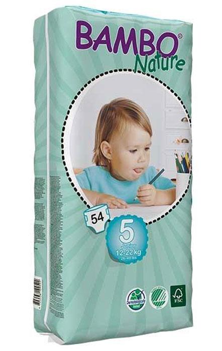 утилизаторы подгузников Bambo Nature Подгузники детские одноразовые Junior, 12-22 кг, 54 шт