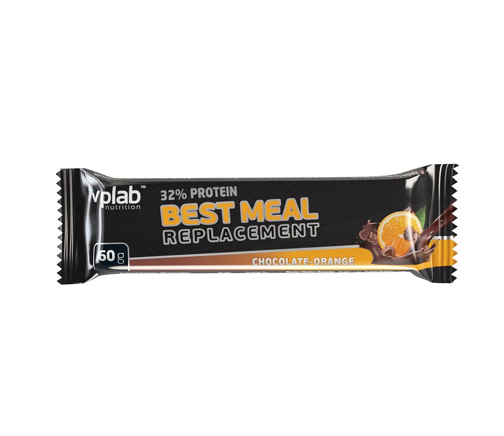 Протеиновый батончик VPLab 32% Protein Best Meal Replacement, шоколад, апельсин, 60 г 1 1 replacement