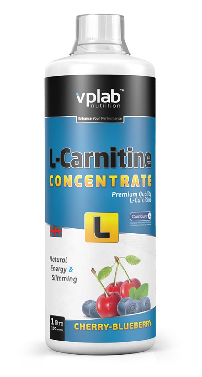 Карнитин Vplab L-Carnitine Concentrate, концентрат, вишня-черника, 1 л l карнитин sport technology nutrition l carnitine guarana 0 5 л